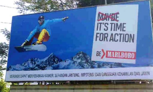 Marlboro reklama v roce 2013 z Indonésie