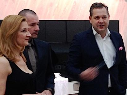 Daniela Drtinová, Martin Veselovský a Kamil Čermák na slavnostním zahájení.