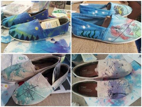 Boty Toms, dotvořené místními umělci