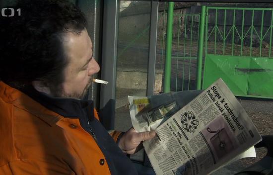 Deník Metro v seriálu Případy 1. oddělení II. Zdroj: Repro ČT