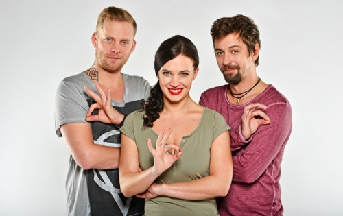 Jakub Prachař, Kristýna Leichtová a Jan Dolanský.